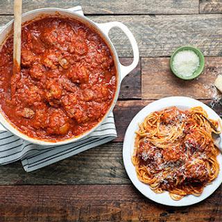 Gramma Pandolfi's Pasta Sauce with Meatballs