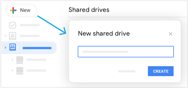 Create a shared drive