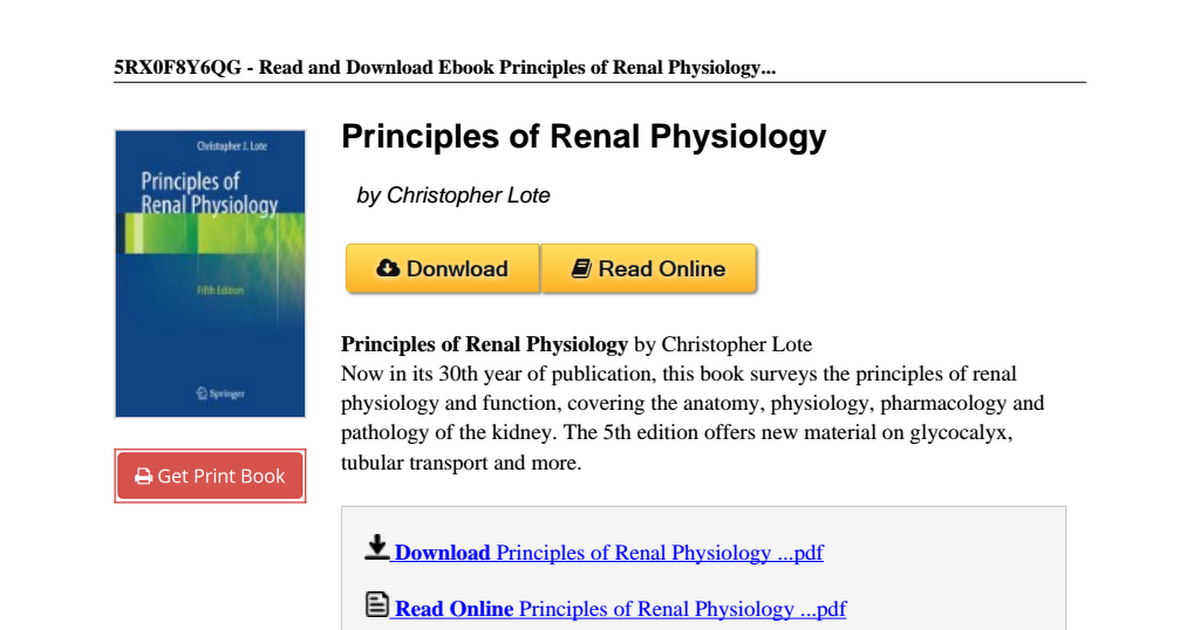 Principles-Renal-Physiology-Christopher-Lote-1461437849.pdf - Google ...