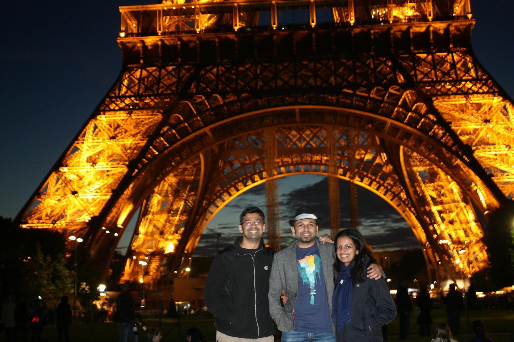 Eiffel tower by night!