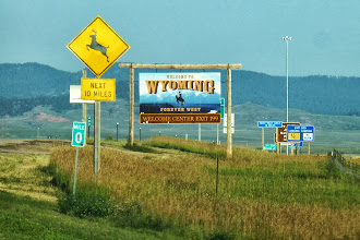 Photo: We're back in Wyoming, and are we ever! We have lots to see and do in this state. It's more of a second road trip, than a mere route back to Spokane's airport.