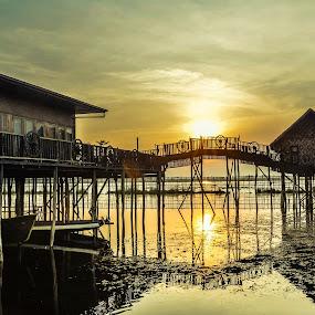 Myanmar 2 by Nguyen Thanh Cong - Buildings & Architecture Bridges & Suspended Structures ( building, myanmar, congdolce@gmail.com, waterscape, sunset, nguyen thánh cong, sunrise, landscapes )