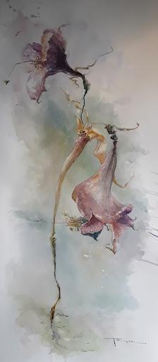 Prédication aux oiseaux_aquarelle JEANNE PAPA