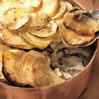 Yukon Gold Potato and Wild Mushroom Gratin