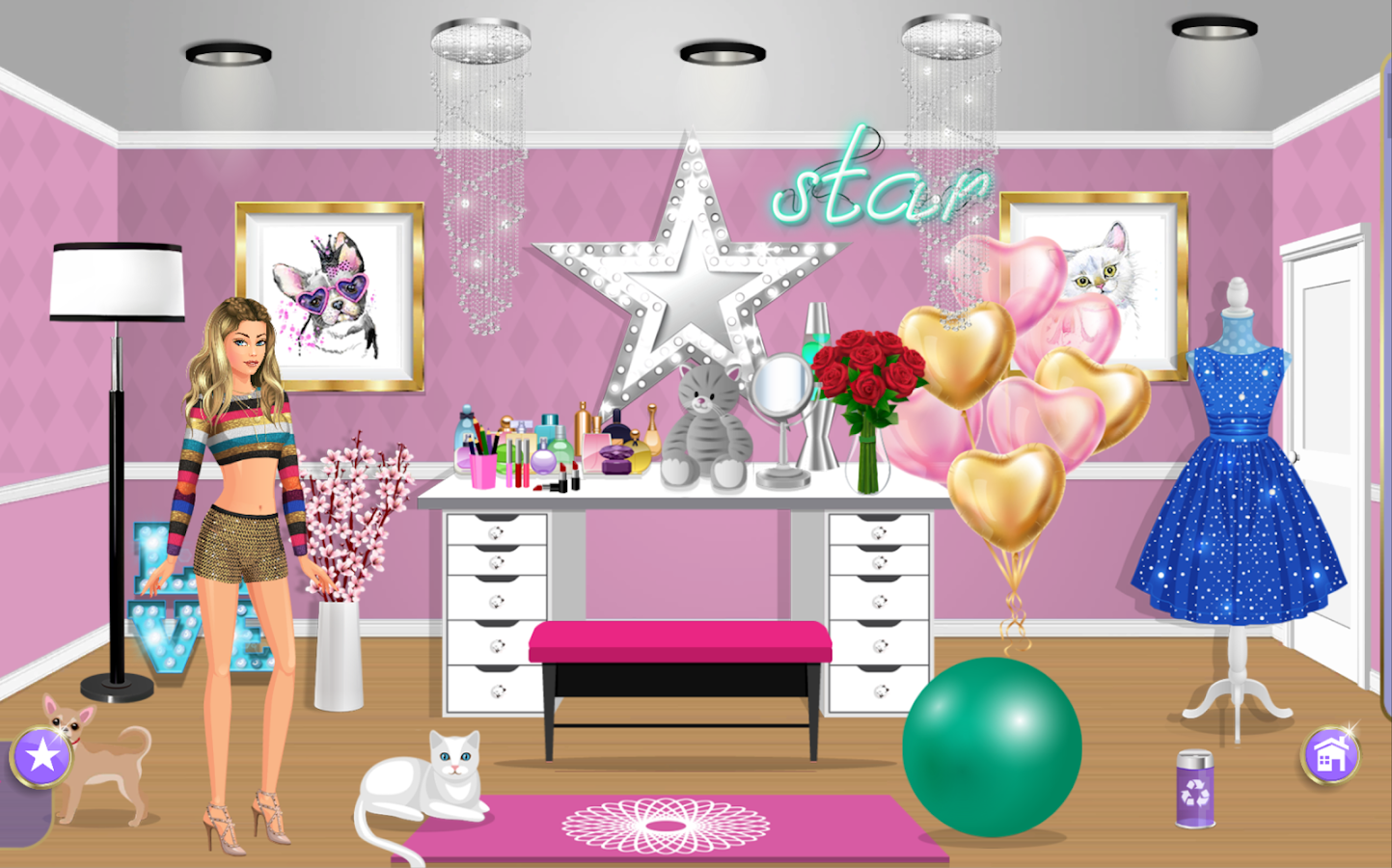 DRESS UP STAR™ Girls DressUp and Makeup Games App- screenshot