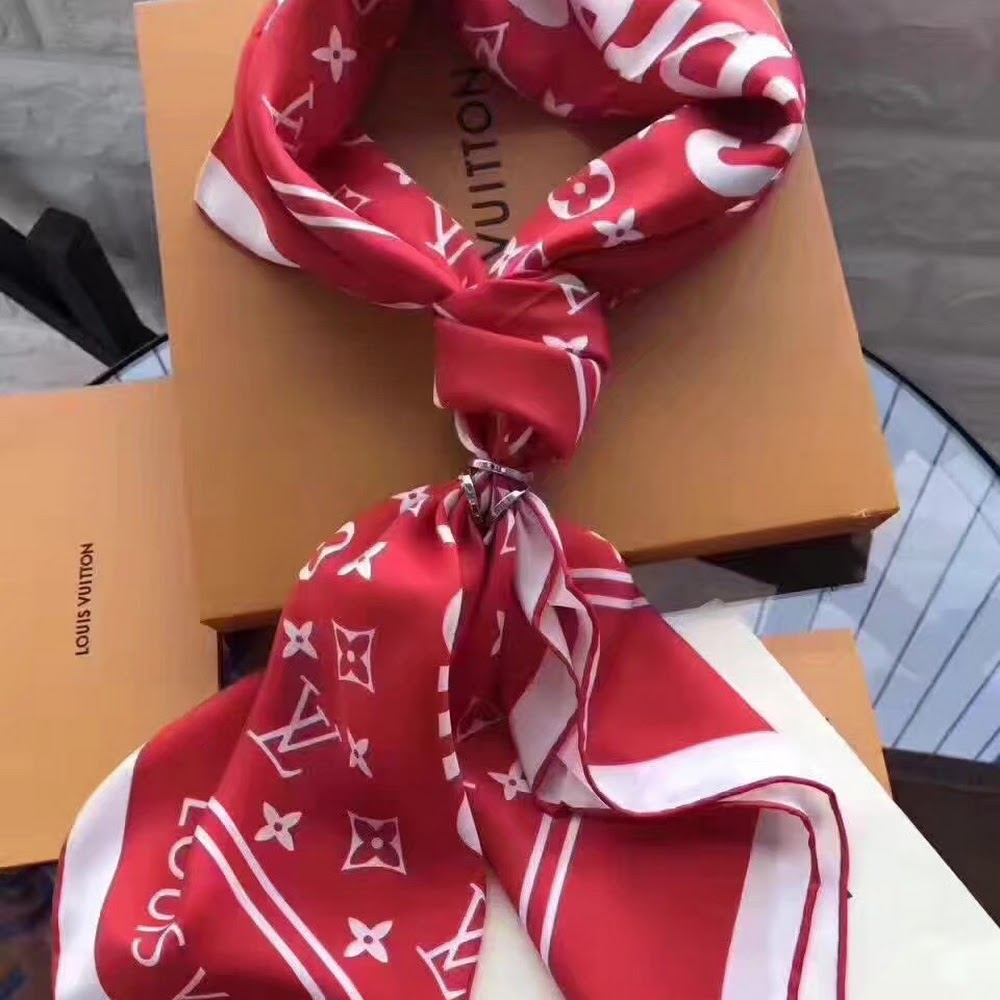 RED LVXSUP SCARF