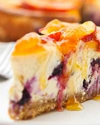 Blueberry Peach Cheesecake