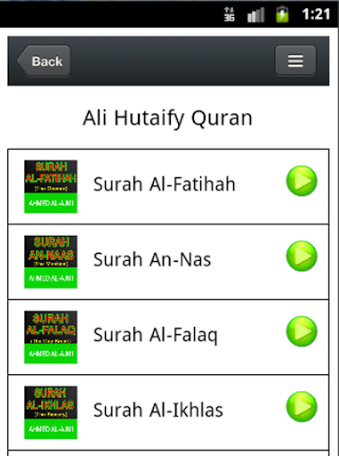 Quran Mp3 - Syech Ali Hutafhy