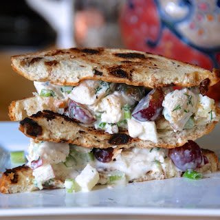 Homemade chicken salad. (Or, my version of Panera's Napa-Almond-Chicken-Salad-Sandwich.).