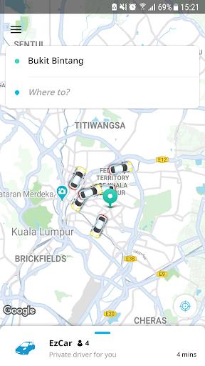 EzCab - Car & Taxi Ride Hailing App ss2
