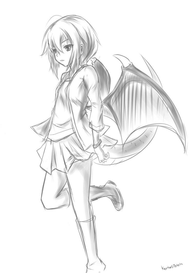 Image result for anime dragon girl