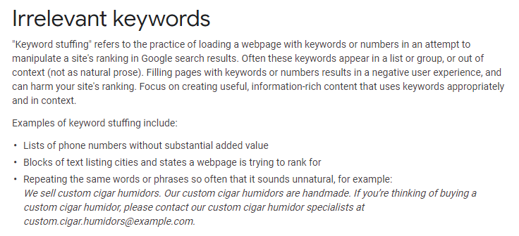 "How ""Keyword Stuffing"" Affect Your Site in Adverse Manner"