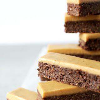 Vegan Chocolate Peanut Butter Fudge Bars.