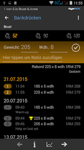 Gym ACE Pro: Optimiere dein Gym Workout Screenshot