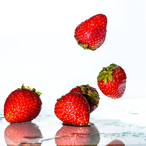 Fresh Strawberries by Ellen Foulds - Food & Drink Fruits & Vegetables ( macro, red, food, fruits, strawberry )