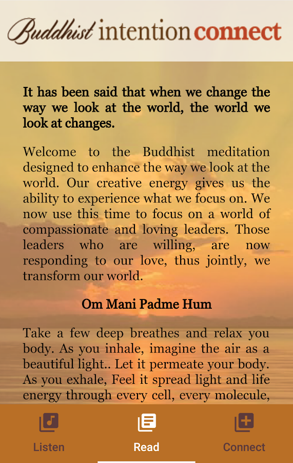 Buddhist Intention Connect- screenshot