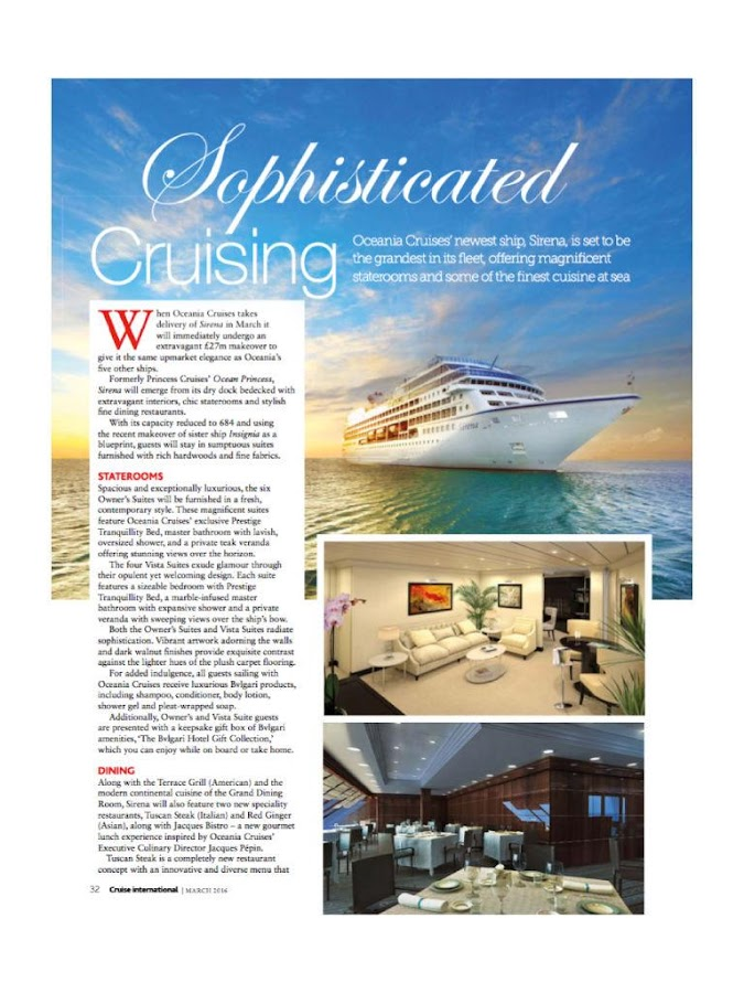Cruise International Magazine- screenshot