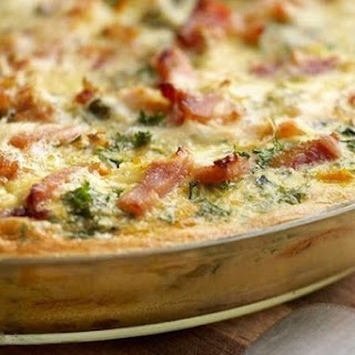 Vegetable Frittata With Mushrooms And Ham