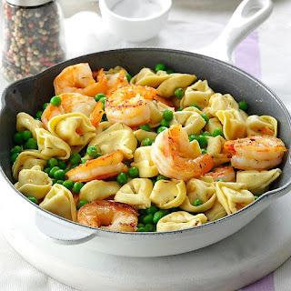 Shrimp Tortellini Pasta Toss.