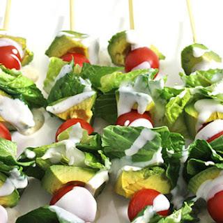Skinny Guacamole Salad Sticks