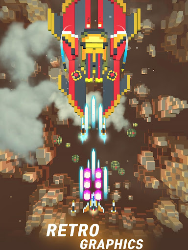 Sky Wings: Pixel Fighter 3D modavailable screenshots 12