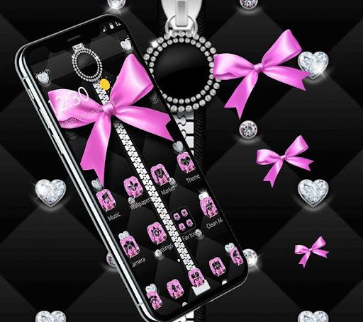 Pink Black Minny Bowknot Theme 1.1.1 screenshots 3