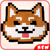 Animals Cute Pixel Art Color by Number Pixel book