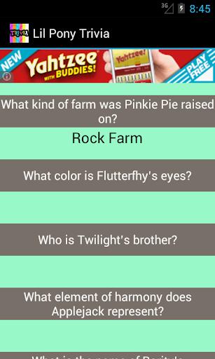 Lil Pony Trivia