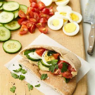 Mediterranean Breakfast Pitas.