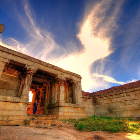 Your daily life is your temple and your religion. When you enter into it take with you your all. by Sreeroop Kt - Landscapes Cloud Formations