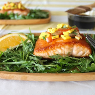 Whiskey-Glazed Salmon with Mango Habanero Chutney