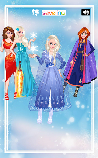 Icy or Fire dress up game - Frozen Land 2.4 screenshots 1