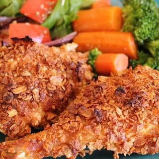 Honey Nut Oven Fried Chicken.