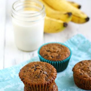 Gluten Free and Vegan Chocolate Chip Banana Muffins.