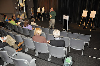 Photo: David Lanoue giving his presentation on the haiku poet Issa.