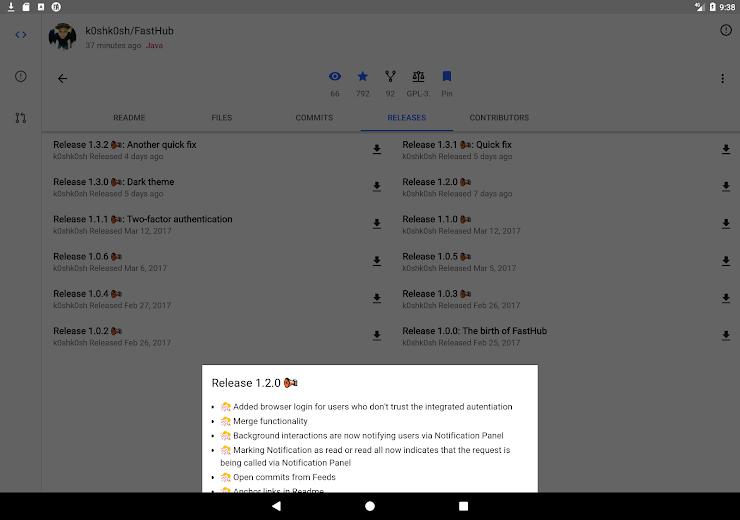 Screenshot 13 for Github's Android app'