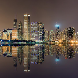 Chicago Skyline by Dmitriy Andreyev - City,  Street & Park  Skylines (  )