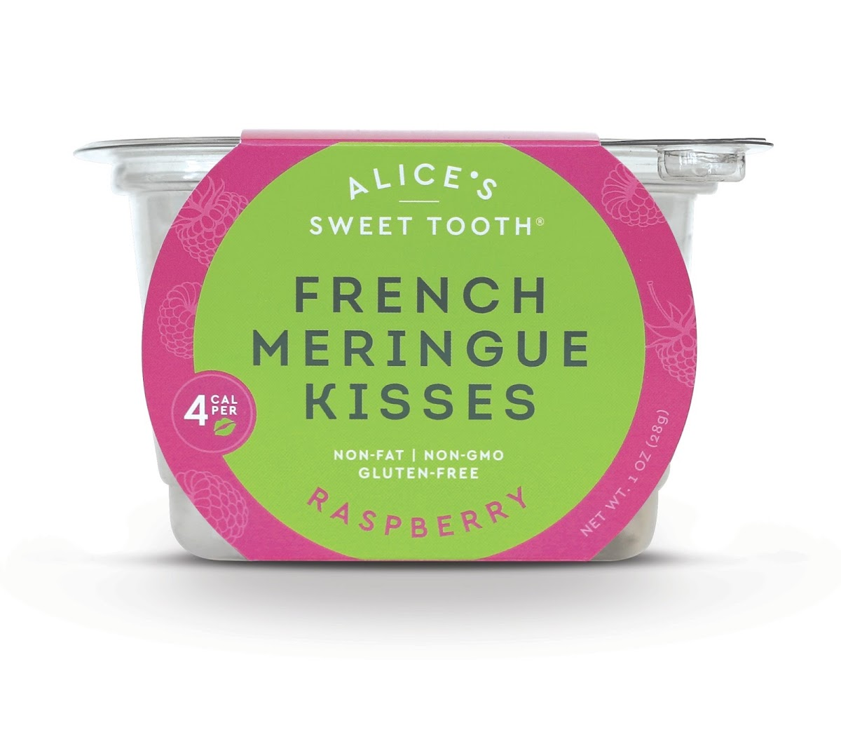 French Meringue Kisses - Raspberry