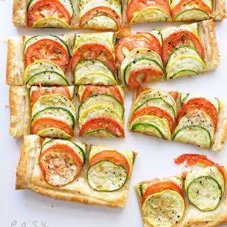 Easy Summer Veggie Tart.