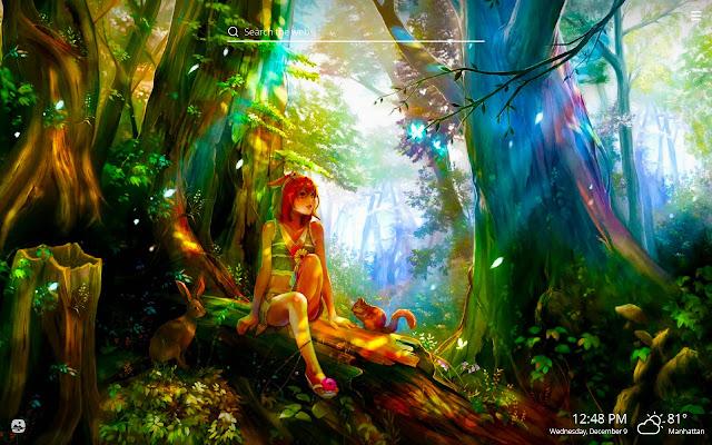 Anime Green Forest Wallpaper Anime Wallpaper Hd
