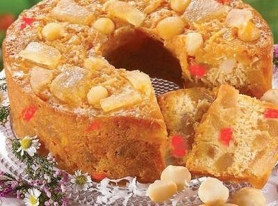 Pineapple Macadamia Fruit Cake Recipe