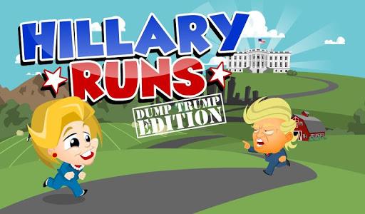 玩免費動作APP|下載Hillary Runs to Dump Trump! app不用錢|硬是要APP