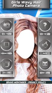 Dívky vlnité vlasy fotoaparát - náhled