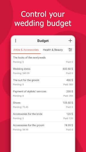 MyWed u2764ufe0f Wedding Planner with Checklist and Budget 2.02.112 Screenshots 3