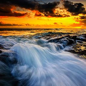 Chunks by Hendri Suhandi - Landscapes Beaches ( sunset, beach )