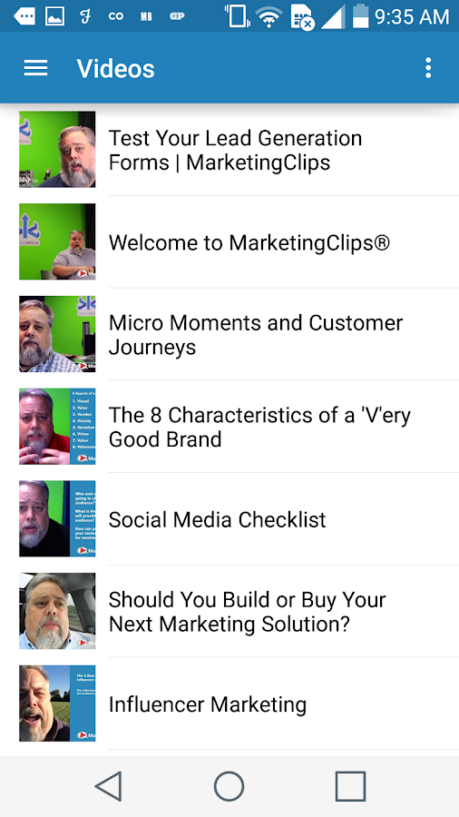 Marketing Technology Blog- screenshot