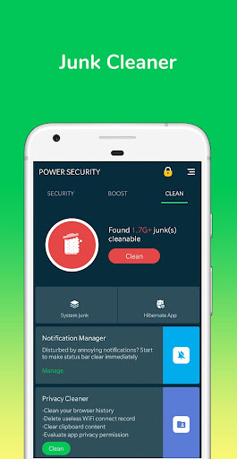 Screenshot for Power Security-Anti Virus, Phone Cleaner in United States Play Store