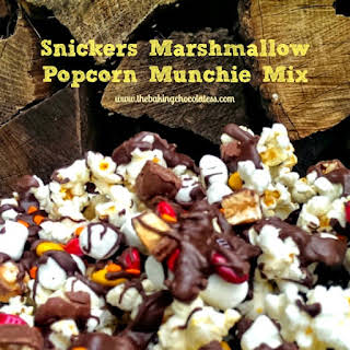 Snickers Marshmallow Popcorn Munchie Mix.