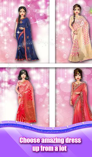 Indian Wedding Saree Designs Fashion Makeup Salon  screenshots 9