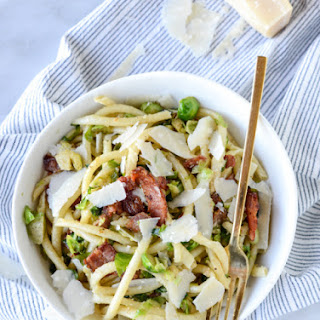 Bacon, Egg and Brussels Carbonara